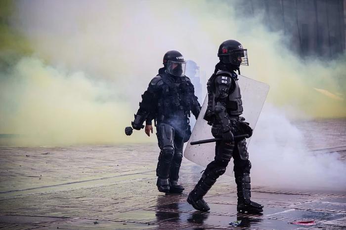 Policías antidisturbios